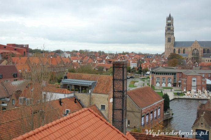 brugia panorama miasta z wieży browaru