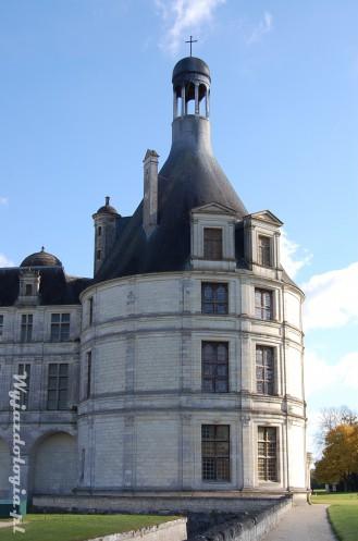 skrzydło zamku w Chambord