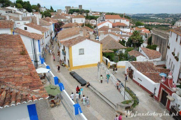 widok z góry na Obidos