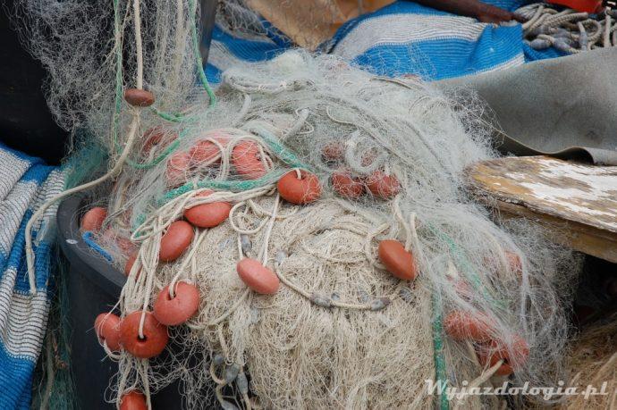 w te sieci rybacy łowią ryby