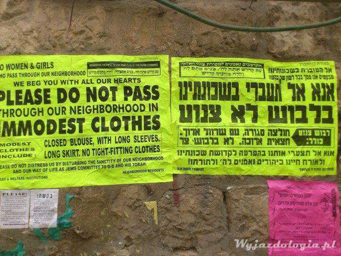 ortodoksyjna dzielnica Mea Shearim