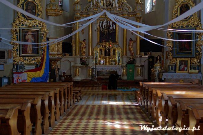 wnętrze kościoła w Łęcznej