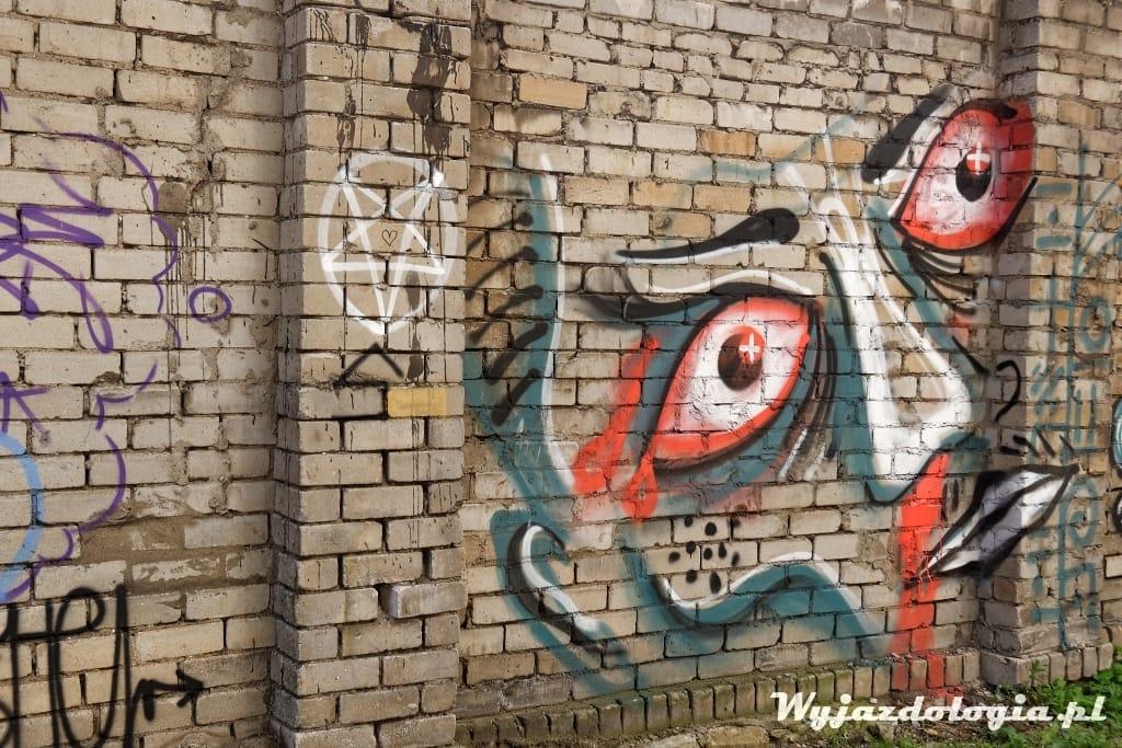 Tallin Twarz na ścianie
