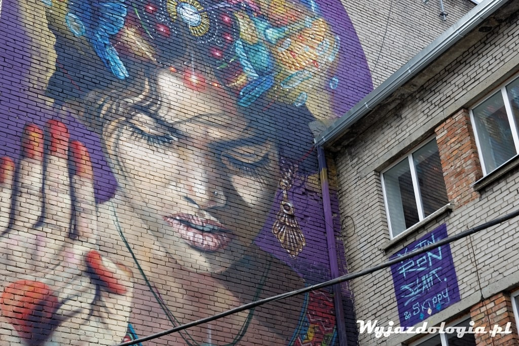 świetny mural w Tallinie