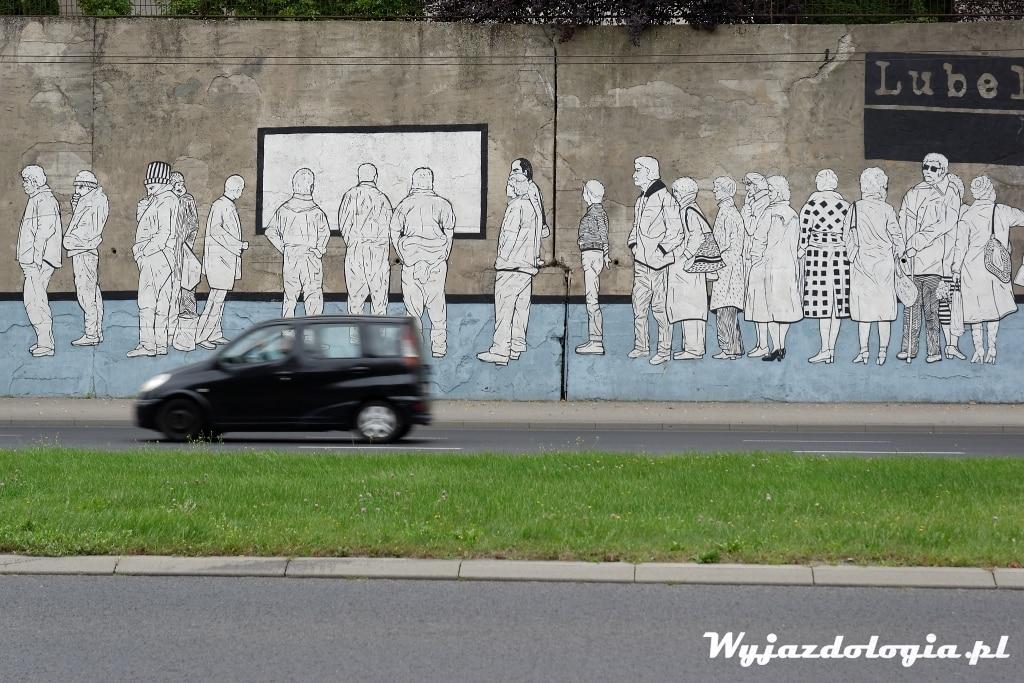 mural przy ulicy Mełgiewskiej w Lublinie