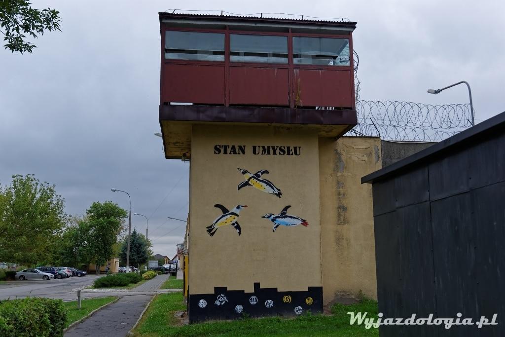 areszt śledczy w Lublinie mural