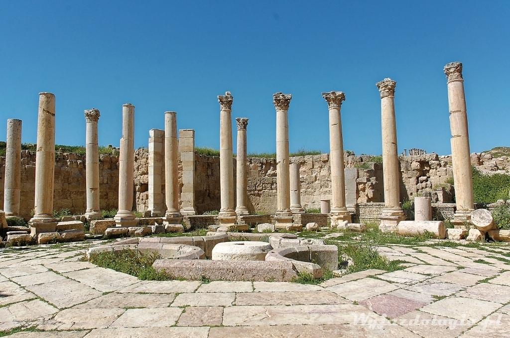 kolumny w Jerash Jordania