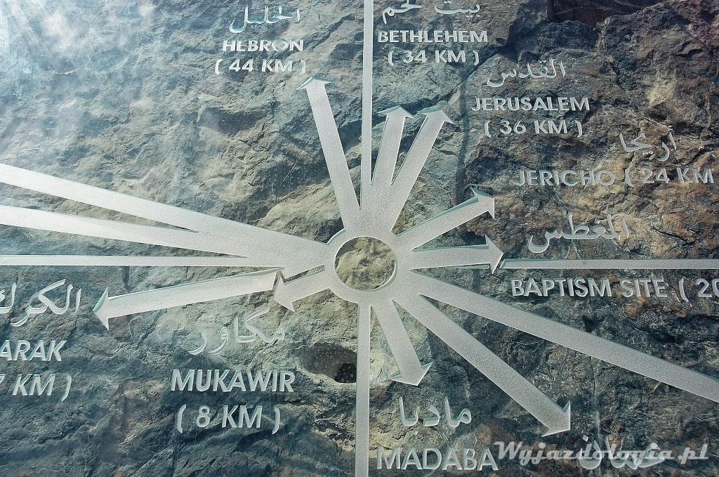 mapa Jordanii
