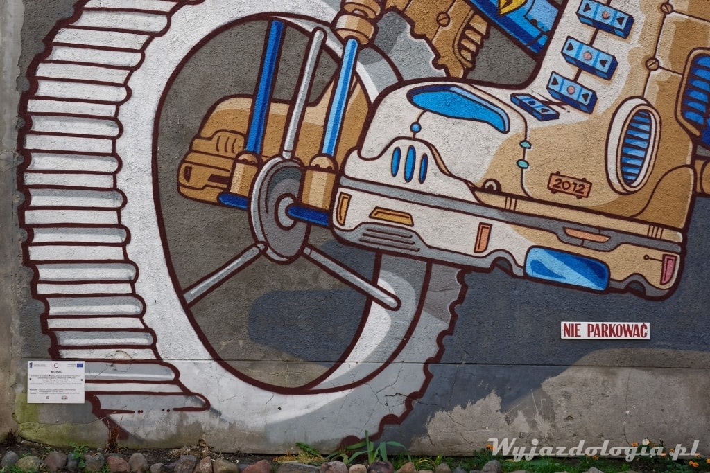 ulica Kwiatka 14 Płock mural