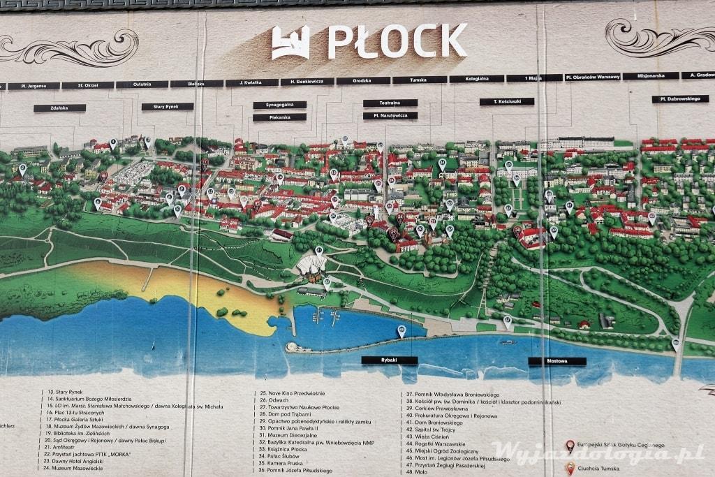 mapa Płocka