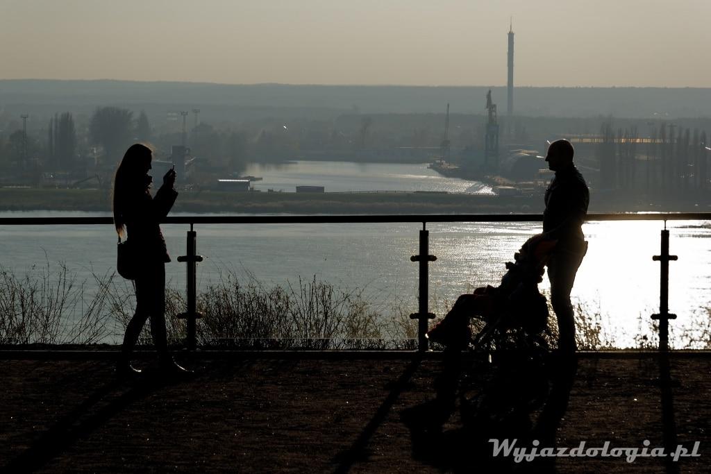 zachód słońca w Płocku