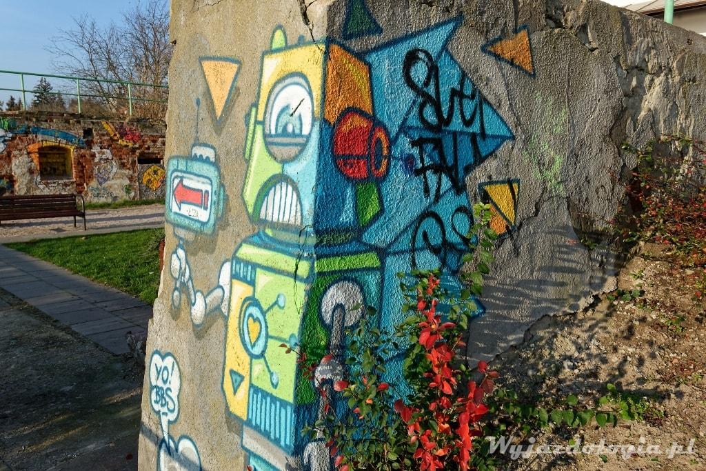Płock promenada murale