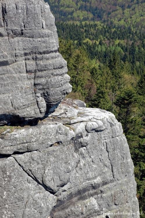 widok ze Szcelińca w Górach Stołowych