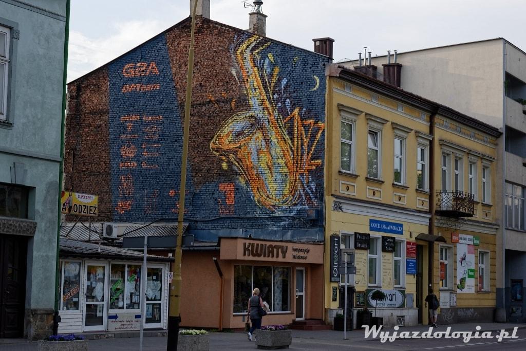 Rzeszów mural z saksofonem
