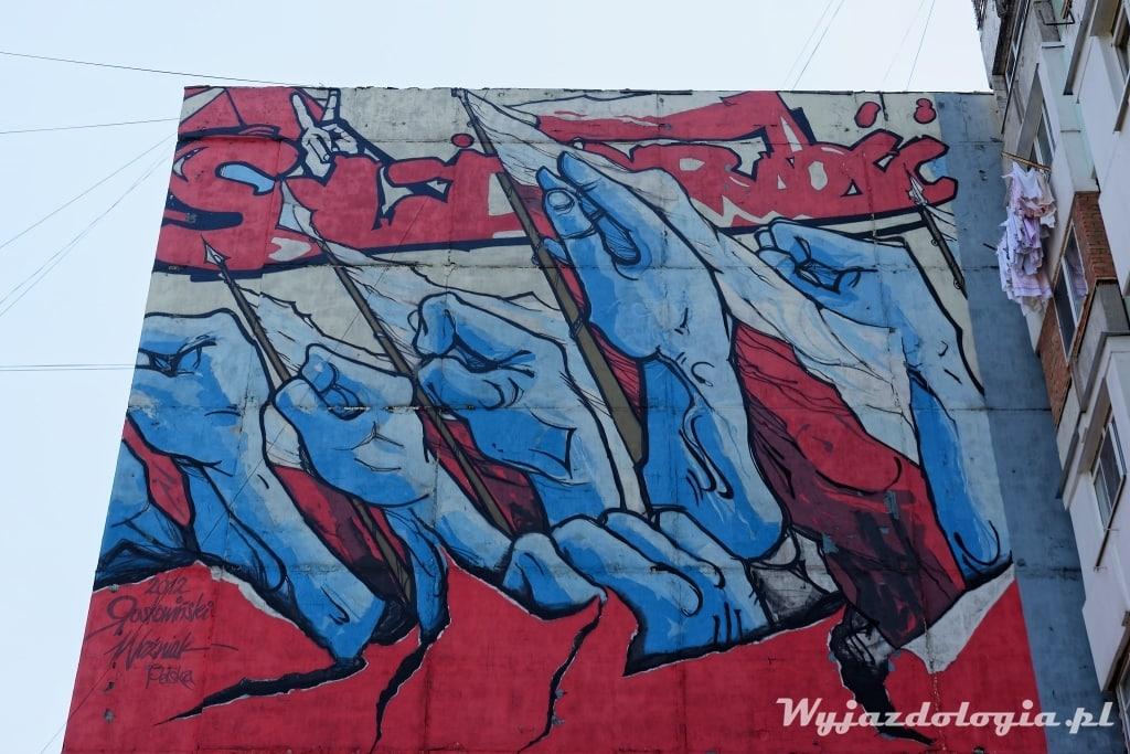 Atrakcje Kiszyniowa Mural Solidarność