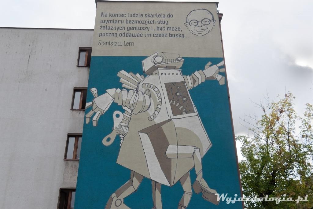 Mural Stanisław Lem Kraków