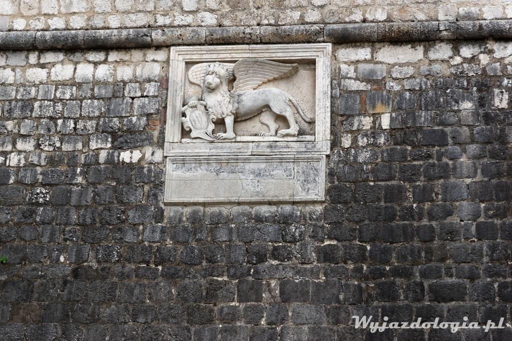 skrzydlaty lew w Kotorze
