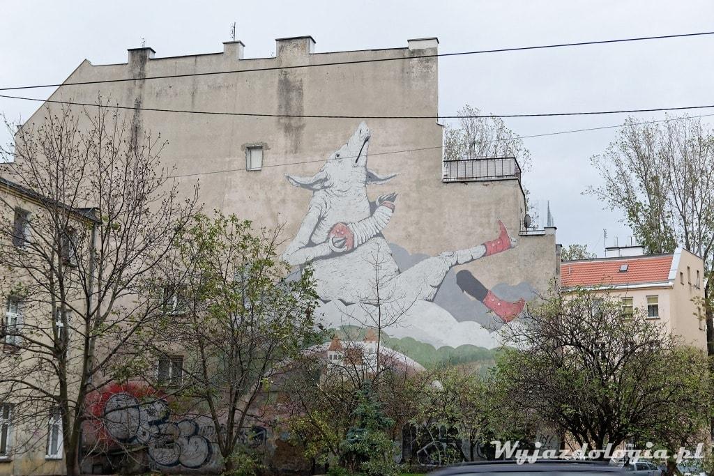 Mural z Prosiakiem Wrocław