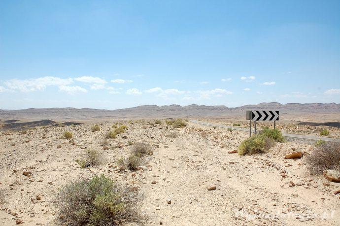 do mitzpe ramon jedziemy przez pustynię negev