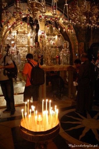 wnętrze bazyliki grobu w jerozolimie
