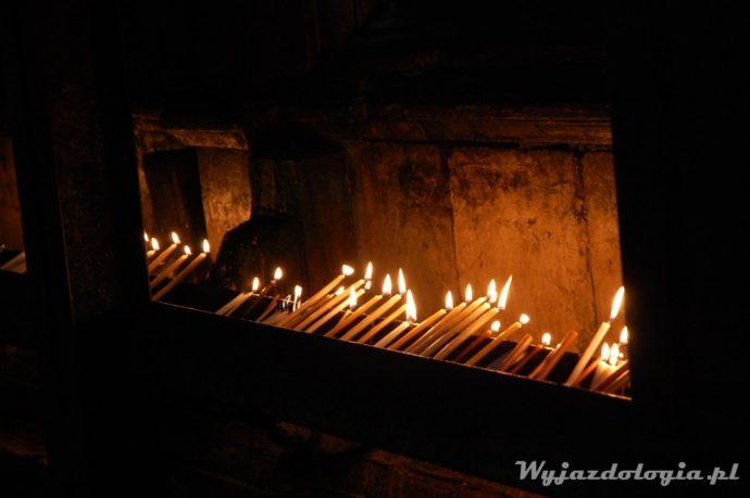 świece w bazylice grobu