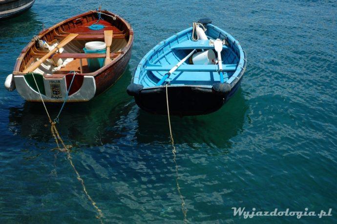 Portofino łódki unoszą się na wodzie