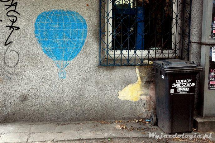 szablon z balonem street art warszawa praga