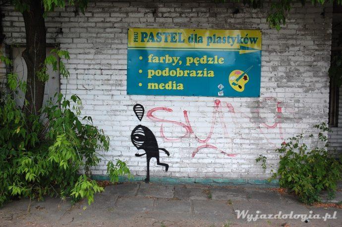graffiti na warszawskiej pradze