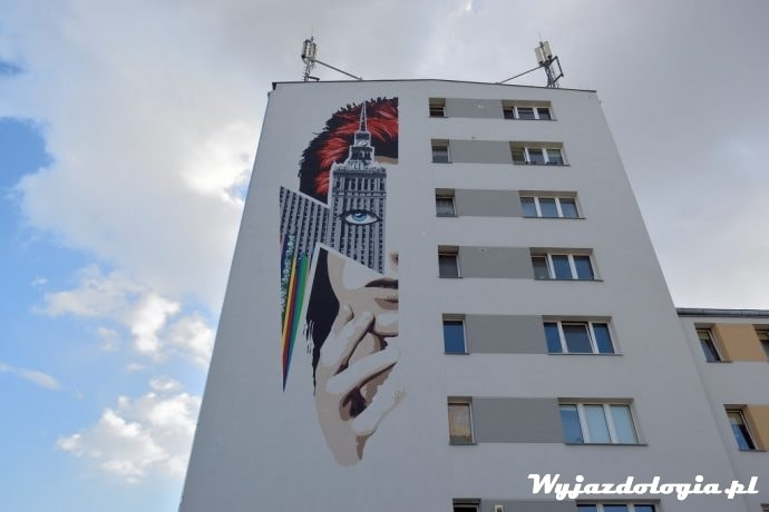 mural przy marii kazimiery 1 Warszawa