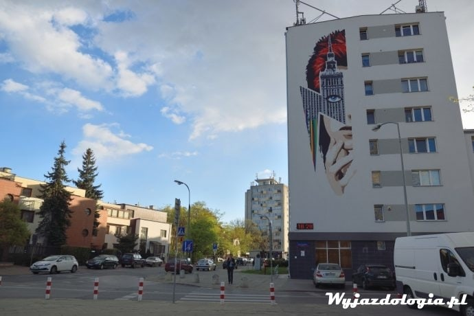 warszawa ulica marii kazimiery 1 mural david bowie