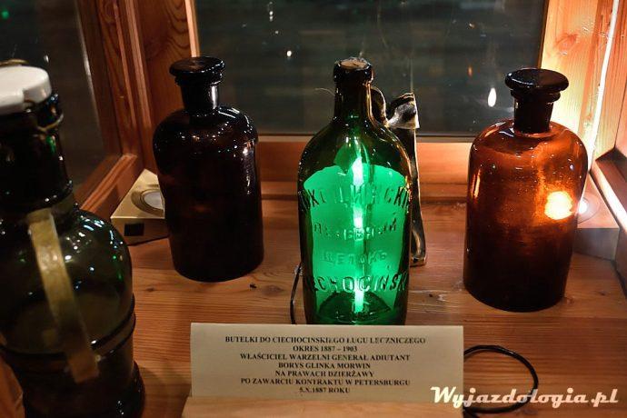 zabytkowe butelki w warzelni soli ciechocinek