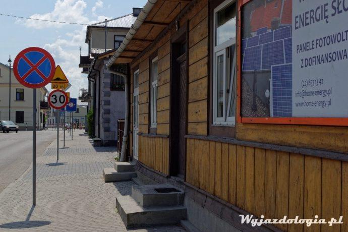 drewniany dom w Łęcznej