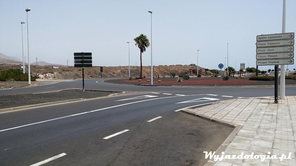 drogi na Lanzarote są dobrej jakości