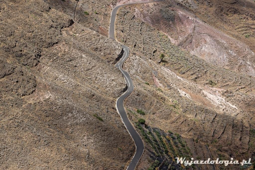 górskie serpentyny na wyspach kanaryjskich