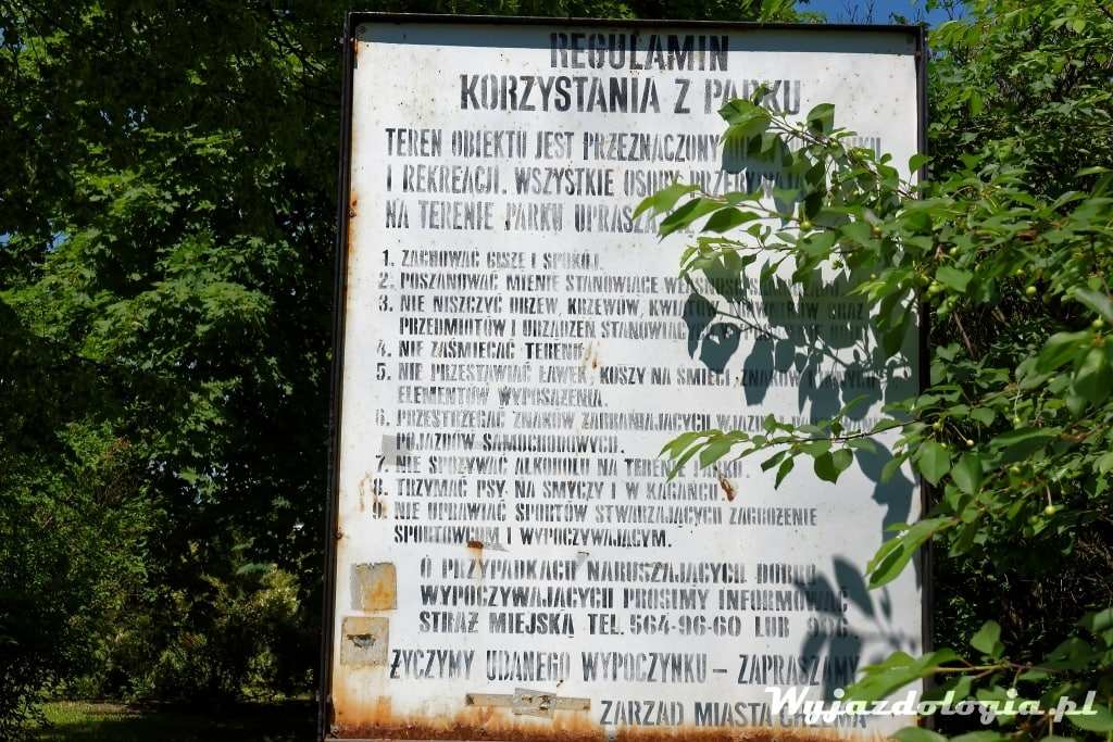 Regulamin Parku w Chełmie