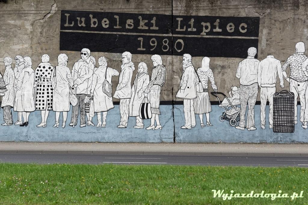 Lubelski Lipiec 1980 mural przy Mełgiewskiej