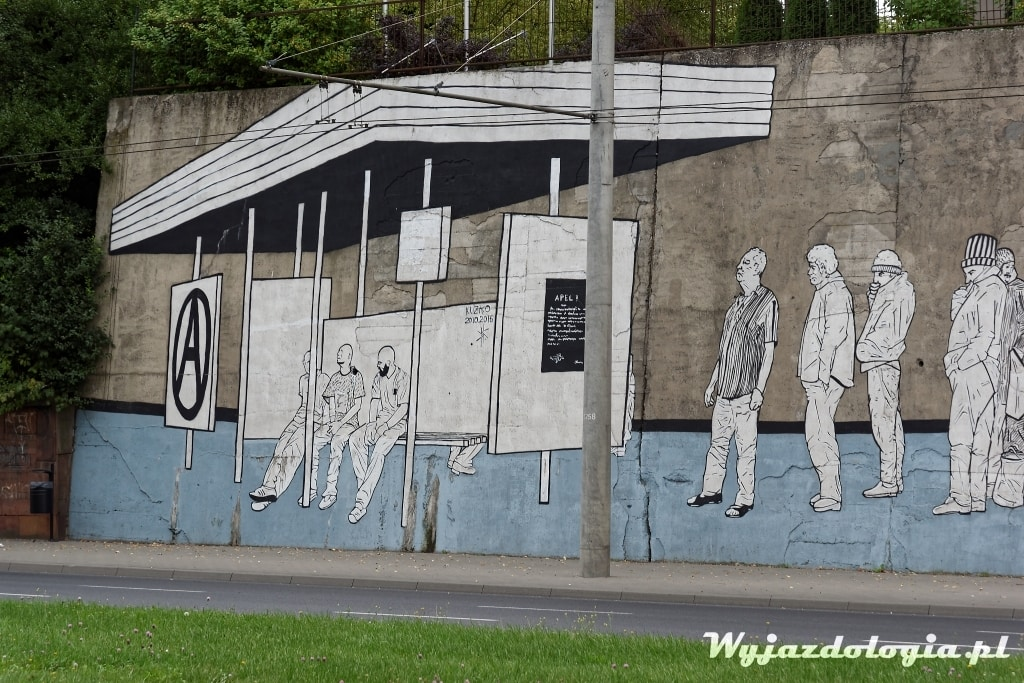 Lublin mural przystanek autobusowy