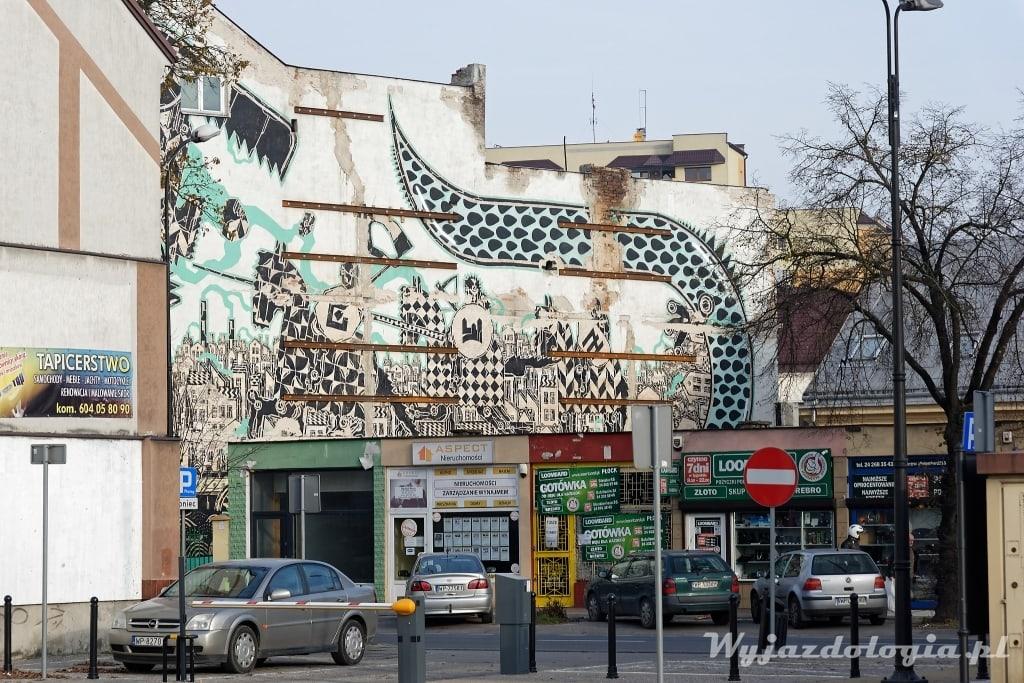 największy mural w Płocku