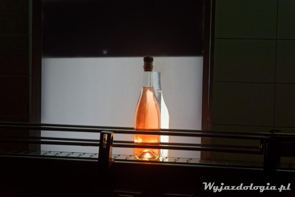 prześwietlanie butelek z szampanem