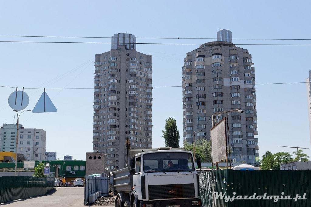 Kijów atrakcje bloki Obolon