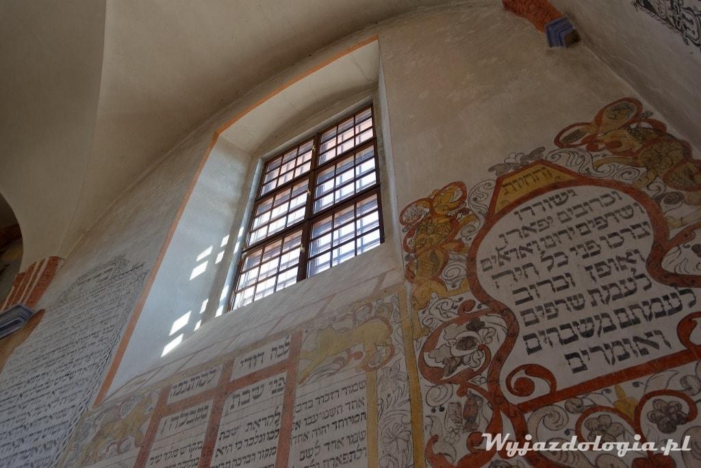 polichromie w synagodze w Tykocinie