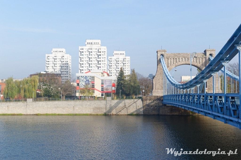 Sedesowce we Wrocławiu widok z mostu Grunwaldzkiego