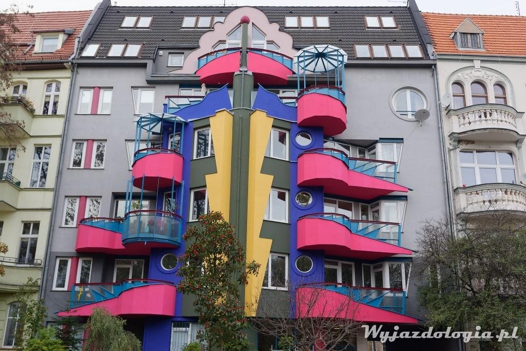 Wrocław Różowe Balkony Postmodernizm