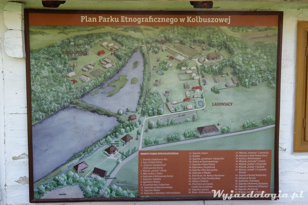 Mapa Skansenu w Kolbuszowej