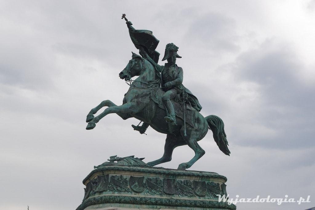 Wiedeń pomnik z koniem