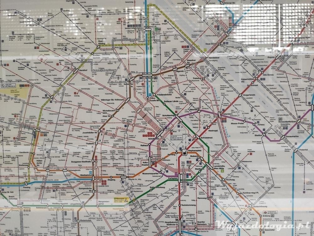 Sieć metra w Wiedniu