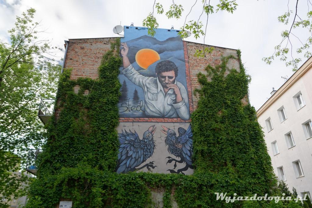 Mural Edward Stachura Warszawa