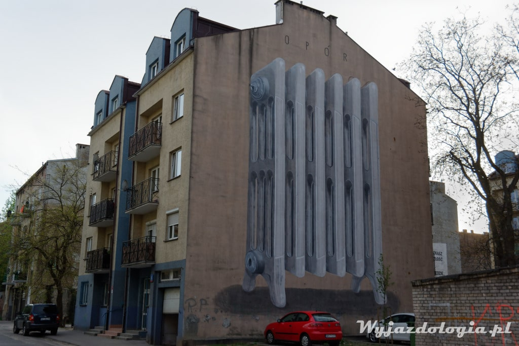 Mural Kaloryfer na prawym brzegu Wisły
