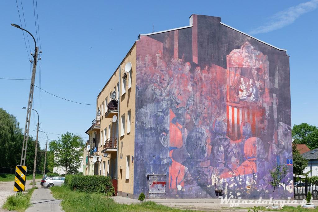 Mural Sepe System Edukacji na prawym brzegu Wisły