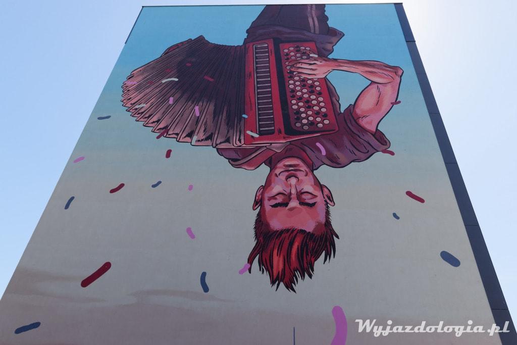 Mural Praski Grajek Wrzesińska Warszawa